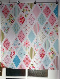 Diamond quilt with sashing ~ tutorial