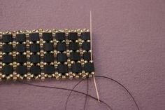A Free and Fancy Tile Bead Bracelet Beading Pattern: Bracelet Body and Adding the Clasp