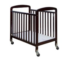 Dream On Me See-Through Portable Convenience Crib, Cherry. Acrylic board on both sides. Converts to a day bed. Ideal for daycare, as well as home nursery. Acrylic Board, Home Daycare, Everything Baby, See Through, Daybed, 2 In, Cribs, Mattress, Kids Room