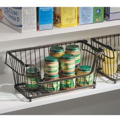 Stackable Pantry Baskets- Bronze
