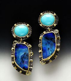 Laurie Macadam, boulder opal and turquoise