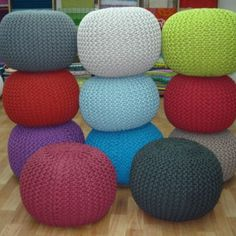 Exquisite #poufs in variant #colors. For #homedecor#interior (at M/S NIKHILOVERSEAS (MANUFACTURER OF CARPETS,RUGS AND FABRIC))