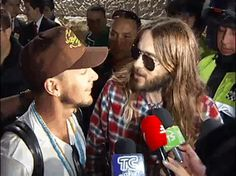 Thirty Seconds To Mars GIF Tomo Milicevic, Shannon Leto and Jared Leto being adorable