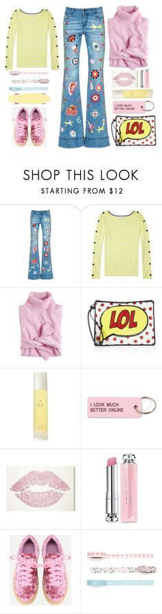 """""""New Ryley Jeans"""" by juliehalloran ❤ liked on Polyvore featuring J.Crew, Alice + Olivia, Aromatherapy Associates, Various Projects, Oliver Gal Artist Co. and Christian Dior"""
