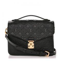 40ca6ec57b67d LOUIS VUITTON Empreinte Pochette Metis Noir Black ❤ liked on Polyvore  featuring bags
