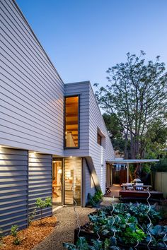 an architect-designed eco friendly house on a 200sqm infill block.