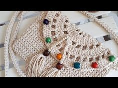 Crossbody bag making / construcción de bolsa con correa cruzada Ribbed Crochet, Crochet Teddy, Crochet Lace, Crochet Clutch, Crochet Handbags, Crochet Purses, Doily Patterns, Knitting Patterns, Crochet Patterns