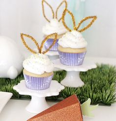 """Sniffing around for an Easter party that will fill you with HOPPINESS? Kara's Party Ideas presents a """"Bunny Bash"""" Easter Party for Kids! Easter Birthday Party, Bunny Birthday, First Birthday Parties, Spring Birthday Party Ideas, Bunny Cupcakes, Easter Cupcakes, Bunny Party, Easter Treats, Easter Food"""