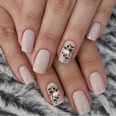 No Chip Manicure, No Chip Nails, Manicure E Pedicure, Nail Salon Design, Lavender Nails, Pretty Nail Art, Square Nails, Flower Nails, Nude Nails