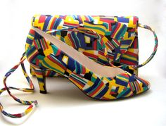 Vintage 1980's Geometric and Colorful Patterned by CoriLuVintage, $56.00