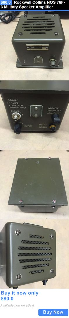 Ham Radio Amplifiers: Rockwell Collins Nos 76F-3 Military Speaker Amplifier BUY IT NOW ONLY: $80.0