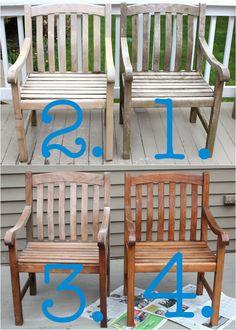 Shine Your Light: Cleaning & Sealing Outdoor Teak Furniture