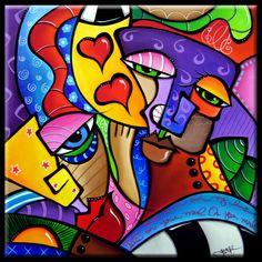 Abstract Art Paintings Painting - As Luck Would Have It by Tom Fedro - Fidostudio Arte Pop, Tableau Pop Art, Pop Art Collage, Art Visage, Wal Art, Chicago Artists, Art Portfolio, Art Plastique, African Art