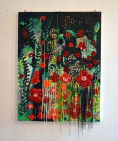 New Year`s Celebration-2013,oil paint and acrylics by Laura Iosifescu