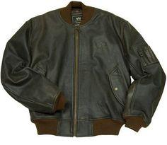 Шкіряні куртки Alpha Industries · Шкіряна чоловіча льотна куртка MA-1  Leather (коричнева) Розміри  під замовлення Ціна ea54157e5fe6d
