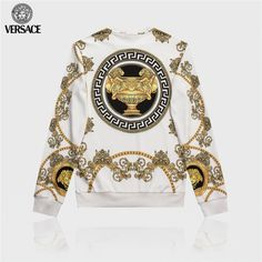 Streetwear Fashion trends and outfits for sale - Edwin Vonholy Versace Hoodie, Versace Suits, Versace Jacket, Versace Fashion, Versace Men, Gucci Hoodie Mens, Mens Fashion Wear, Best Mens Fashion, Men's Fashion