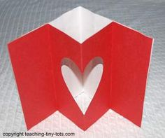 Toddler Activities: Make a Pop Up Heart Card for Valentines Day