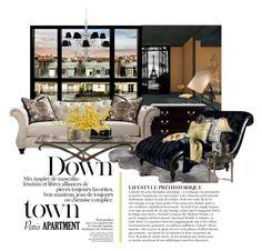 """Paris Apartment"" by joyfulnoise1052 on Polyvore featuring interior, interiors, interior design, home, home decor, interior decorating, UGG, Eichholtz, Universal Lighting and Decor and Magnussen Home"