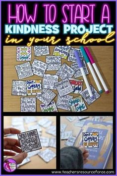 How to start a Kindness Project in your school to improve wellbeing Kindness Projects, Kindness Activities, Time Activities, Teaching Character, Character Education, Character Development, Personal Development, Giving Compliments, St Patricks Day Quotes