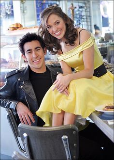 Max Crumm & Laura Osnes - Grease Photo by Scott Gries Theatre Geek, Broadway Theatre, Musical Theatre, The Threepenny Opera, Rodgers And Hammerstein's Cinderella, Grease Musical, Grease Live, Laura Ann, Laura Osnes