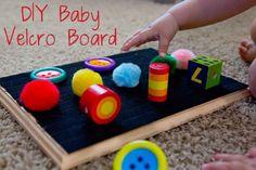 DIY Baby Velcro Board
