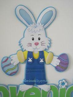 Conejo de Pascua _Molde