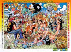 Tags: ONE PIECE, Scan, Manga Cover, Nami (ONE PIECE), Sanji, Franky, Nico Robin, Roronoa Zoro, Usopp, Monkey D. Luffy, Tony Tony Chopper, Oda Eiichirou, Brook, Official Art, One Piece: Two Years Later