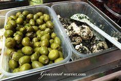 Maltese olives and Ġbejniet - local peppered goat cheese. Yum! │ #VisitMalta visitmalta.com