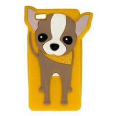 Etui obudowa guma case pies piesek CHIHUAHUA żółty do Huawei P8 Lite