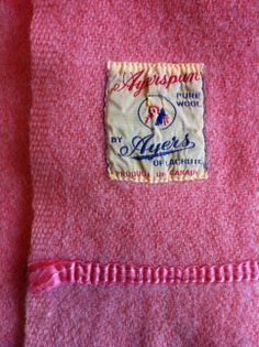 """Ayerspun Pure Wool"", by Ayers of Lachute, Product of Canada.  Lachute is in Québec.  My collection."