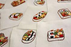 """696 Likes, 16 Comments - @yula_handmade_2008 on Instagram: """"2016.12.17 . ワンポイント刺繍が溜まってきたので、そろそろ給食ナフキンに付けてあげようと思います . .…"""""""