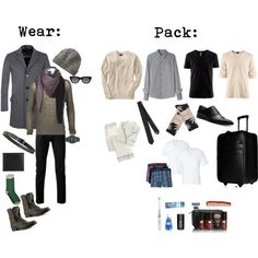 Men's Weekend Packing List: tips on how to pack lightly for a weekend getaway.