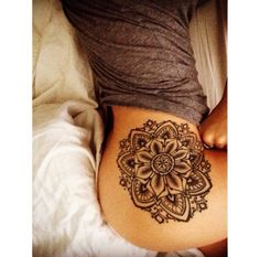 Mandala Hip Tattoo