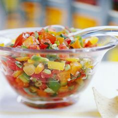 Fresh Tomato Salsa If you like a mild salsa, use the banana peppers. For a hot version, opt for one of the other pepper choices. Diabetic Living