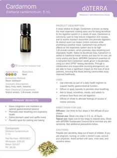 Cardamom doTERRA Essential Oil Product Information Guide