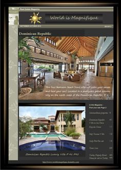 Magazine world is magnifique sept oct 2014  A large luxury villa from Dominican Republic.