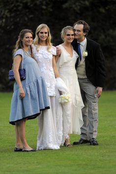 Todas las fotos de la boda de Poppy Delevingne
