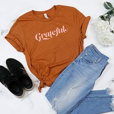 Wxmen's Clothing & Accessories | EMPOWERHAUS by Emily Hopper Thoughtful Gifts For Her, 70s Aesthetic, Aesthetic Vintage, Autumn T Shirts, Feminist Shirt, Mama Shirt, Cool Tees, Colorful Shirts, Shirt Style