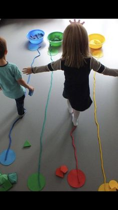 Ages Demonstrate development of flexible thinking during play Motor Skills Demonstrate development of fine and gross motor coordination Montessori Activities, Classroom Activities, Toddler Activities, Preschool Activities, Circus Crafts Preschool, Physical Activities For Preschoolers, Vestibular Activities, Visual Motor Activities, Movement Preschool