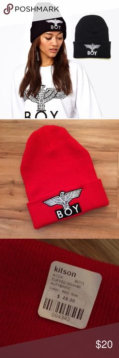 Boy London Eagle Beanie (NWT) • new with tag • perfect condition • warm • cozy • comfortable fit • exclusive color • Boy London  Other