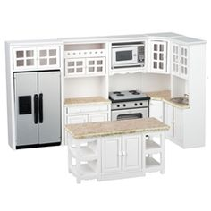Modern White and Stainless Kitchen Set