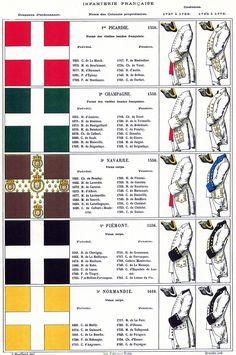 French Infantry Regimental Colours regiments 1-5