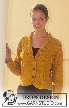 Women - Free knitting patterns and crochet patterns by DROPS Design Sweater Knitting Patterns, Cardigan Pattern, Jacket Pattern, Knit Patterns, Free Knitting, Crochet Jacket, Knit Jacket, Drops Design, Knitted Coat