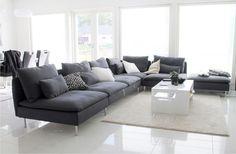 design home decoration New Living Room, Home And Living, Living Room Decor, Living Spaces, Söderhamn Sofa, Ikea Couch, Living Room Inspiration, Home Decor Inspiration, Ikea Soderhamn