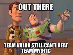 Team Mystic, Pokemon Go. Blue team rules the world!