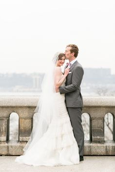 Veil and tiered wedding dress by Jaclyn Jordan New York | Charlie Juliet Photography | see more on: http://burnettsboards.com/2014/07/stylish-bridal-accessories-jaclyn-jordan/