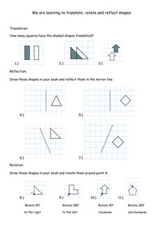Ks3 Maths Rotation Worksheets - differentiated effective and fun maths ...