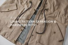 Kelly Anorak Hardware Kits + New Kelly Lining Pattern Expansion now in the shop!
