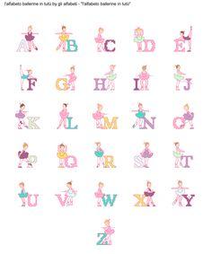 alfabeto ballerine in tutù