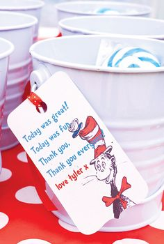 Quirky Dr. Seuss' Cat in the Hat First Birthday Party // Hostess with the Mostess®